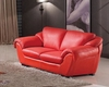 Modern Style Living Room Loveseat in Red Finish 33SS423