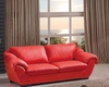 Modern Style Living Room Sofa in Red Finish 33SS422
