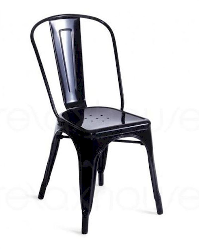 Modern style metal side chair 44d5816 set of 2 for Modern metal chairs