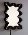 Modern Style Mirror in Black or Silver 33C83