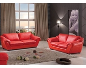 Modern Style Sofa Set in Red Finish 33SS421