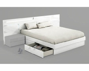 Modern Style Storage Bed Made in Spain Sara 33141SR