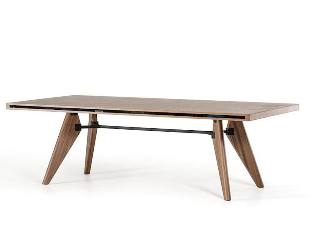 Modern style walnut dining table 44d1403t wal for Dining table styles