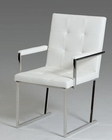Modern Style White Leatherette Chair 44D808A-WHT