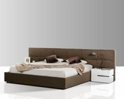 Modern Taupe Fabric Bed 44B185BD
