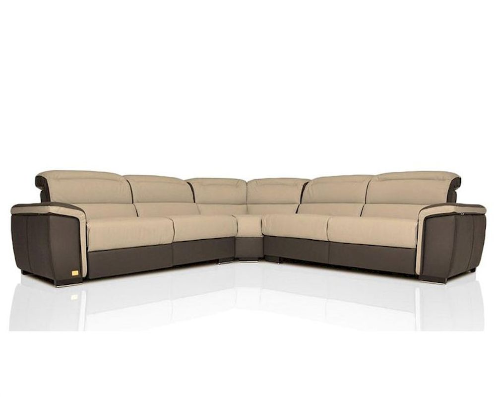 modern full italian leather sectional sofa w recliners 44l5975. Black Bedroom Furniture Sets. Home Design Ideas