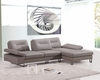 Modern Taupe Leather Sectional Sofa 44L5980