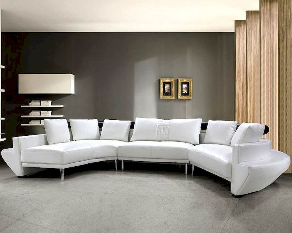 Modern tufted leather sectional sofa set 44l0510 for Tufted couch set