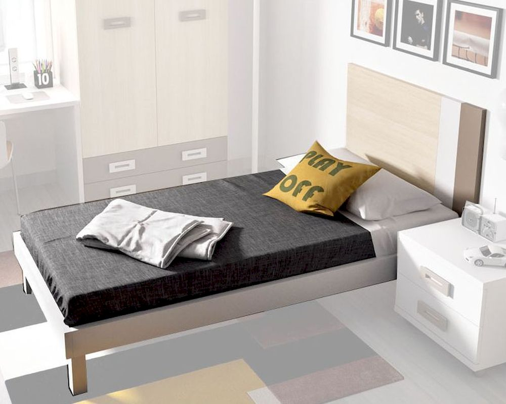 Modern Twin Bed Made In Spain 33140h520