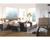 Modern Two Tone Bedroom Set Made in Spain 33B211