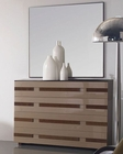 Modern Two Tone Dresser and Mirror Made in Spain 33B214