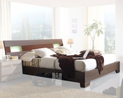 Modern Two Tone Platform Bed Made in Spain 33B212