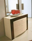 Modern Two Tone Single Dresser and Mirror Made in Italy 44B2214S