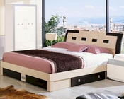 Modern Two Tone Storage Bed Made in Italy 44B2212
