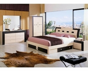 Modern Two Tone Storage Bedroom Set Made in Italy 44B2211