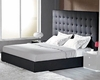 Modern Upholstered Black Bed Made in Italy 44B4612B