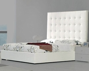 Modern Upholstered White Bed Made in Italy 44B4612W