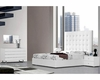 Modern Upholstered White Bedroom Set Made in Italy 44B4611W