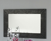 Modern Wall Mirror Valencia in Black Made in Spain 33B256