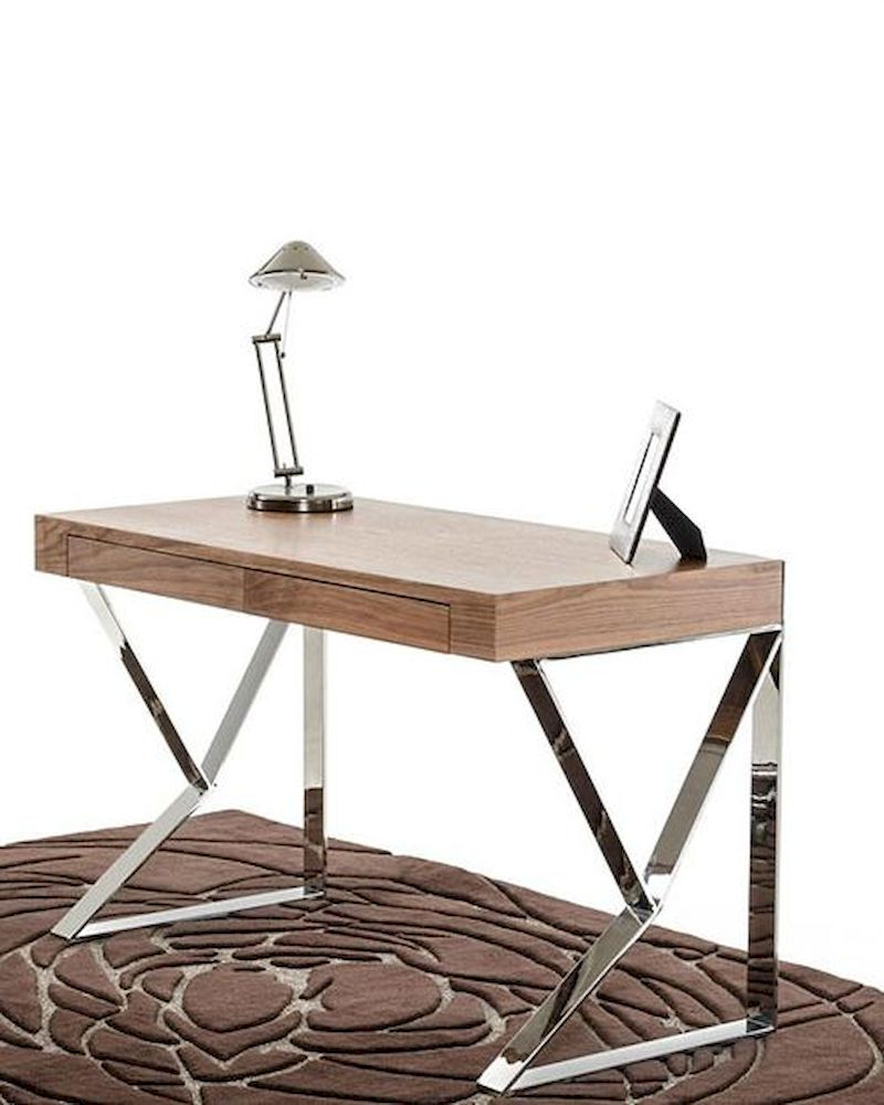 Modern walnut office desk 44f153 wal - Walnut office desk ...