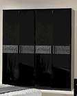 Modern Wardrobe in Black/ Gray Finish Made in Italy 44B5118BG