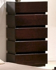 Modern Wenge 5-Drawer Chest 44B187CH