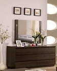 Modern Wenge Finish Dresser and Mirror Made in Italy 44B1714