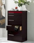 Modern Wenge/ Red Finish Chest Made in Italy 44B6519