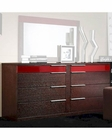 Modern Wenge/ Red Finish Dresser Made in Italy 44B6515