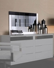 Modern White/ Black Finish Bedroom Mirror Made in Italy 44B3516