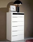 Modern White/ Black Finish Chest Made in Italy 44B3519
