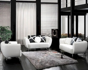 Modern White Bonded Leather Sofa Set 44L2946