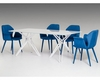 Modern White Dining Set w/ Glass Dining Table 44D6105SET1