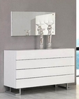 Modern White Dresser and Mirror Made in Italy 44B4614W