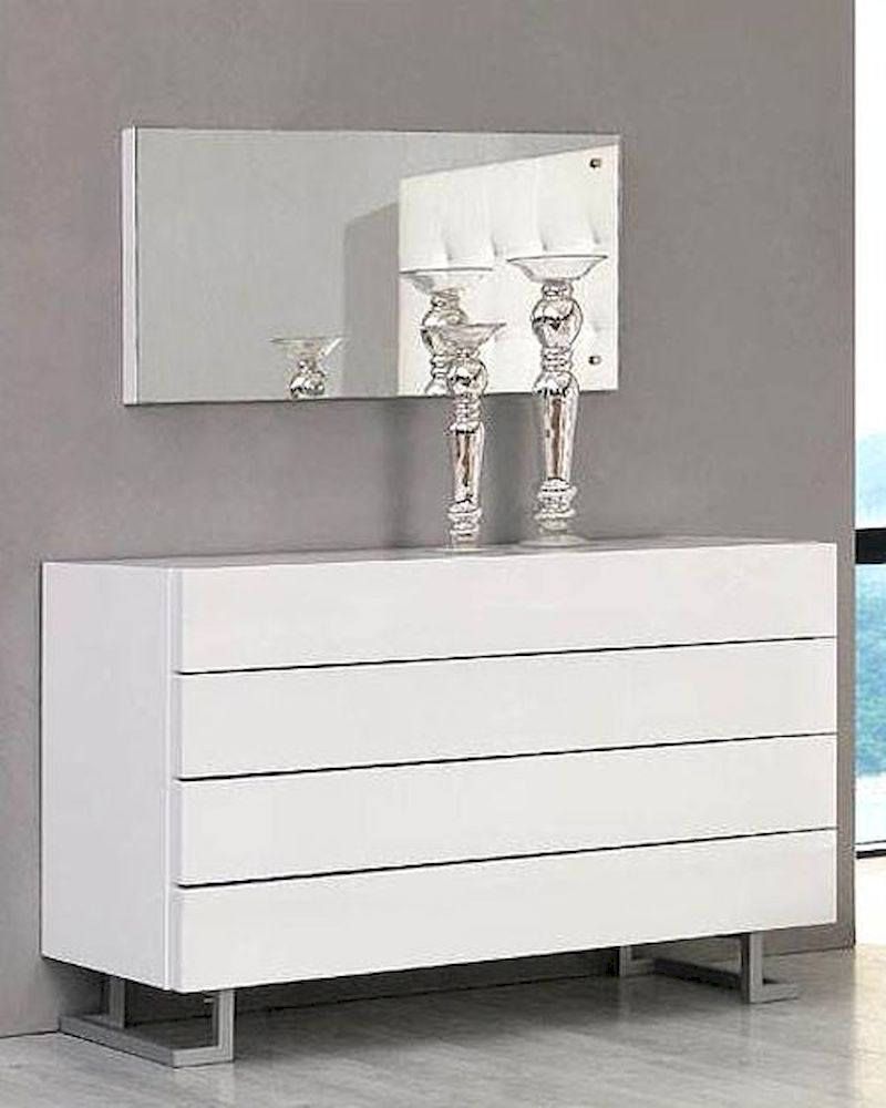 white modern dresser modern white dresser and mirror made in italy 44b4614w 13856