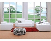 Modern White Fabric Sofa Set 44L0803