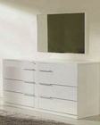 Modern White Finish Dresser and Mirror Made in Italy 44B114W