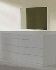 Modern White Finish Frame Bedroom Mirror Made in Italy 44B116W