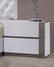 Modern White Finish Nightstand 44B178NS