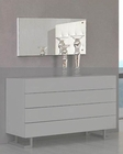 Modern White Frame Bedroom Mirror Made in Italy 44B4616W