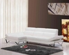 Modern White Full Leather Sectional Sofa 44L6021