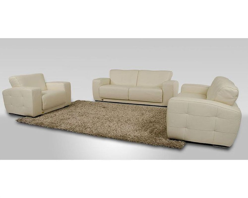modern white italian leather sofa set made in italy 44l6047