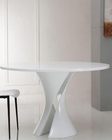 Modern White Lacquer Round Dining Table 44D1154DT