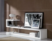 Modern White Lacquer TV Stand 44ENTWIN5
