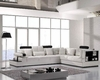 Modern White Leather Sectional Sofa Set 44LT117
