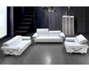 Modern White Leather Sofa Set 44L0660