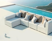 Modern White Outdoor Small Sectional Sofa 44P103