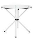 Modway Baton Dining Table in Clear MY-EEI-1074