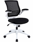 Modway Edge White Base Office Chair in Black MY-EEI-596