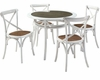 Modway Gear Dining Set in Gray MY-EEI-222
